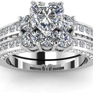 Jewelry - 3pc His and Hers Couple Ring Bridal Set